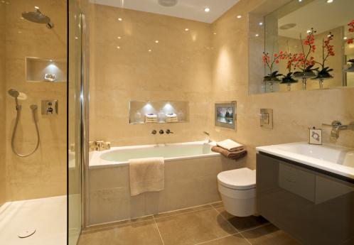 スイセン「豪華なバスルームとシャワー」:スマホ壁紙(11)