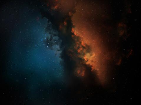 Hydrogen「red & blue space nebula」:スマホ壁紙(6)