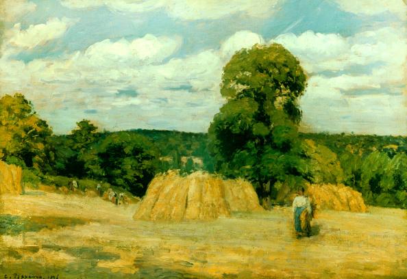 1870-1879「Harvest At Montfoucault」:写真・画像(0)[壁紙.com]