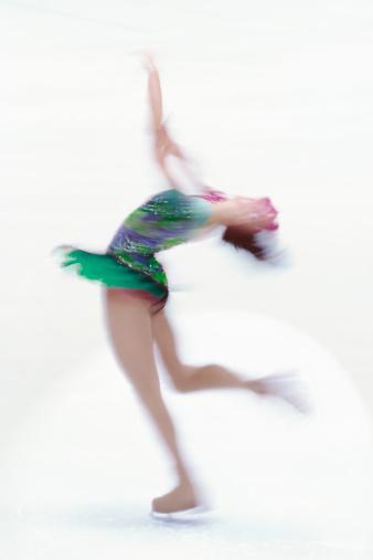 Figure Skating「Female figure skater doing a spin.」:スマホ壁紙(12)