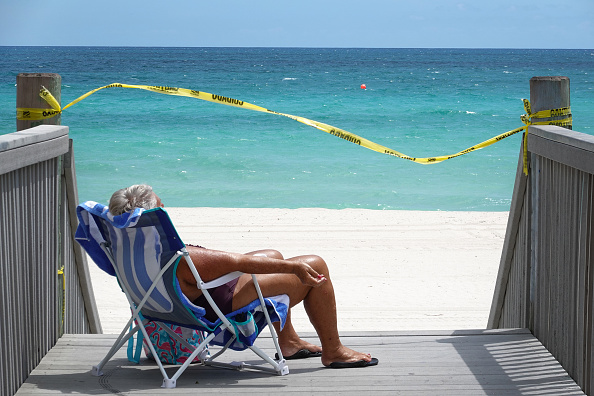 Beach「Coronavirus Pandemic Causes Climate Of Anxiety And Changing Routines In America」:写真・画像(2)[壁紙.com]