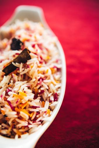 Basmati Rice「Basmati rice flavored with cumin seeds. North Indian food」:スマホ壁紙(0)
