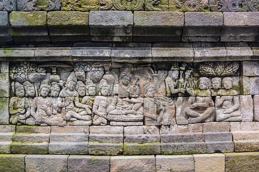 インドネシア「Borobudur Temple Stone Sculpture, Java, Indonesia」:スマホ壁紙(9)