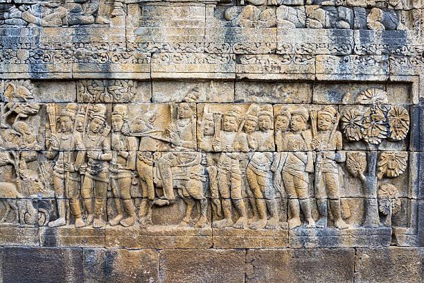 Borobudur Temple Stone Sculpture, Java, Indonesia:スマホ壁紙(壁紙.com)