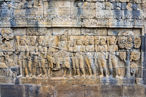インドネシア「Borobudur Temple Stone Sculpture, Java, Indonesia」:スマホ壁紙(13)