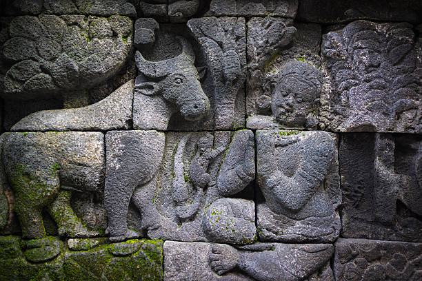 Borobudur Temple Stone Sculpture, Java, Indonesia:スマホ壁紙(壁紙.com)