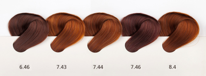 Highlights - Hair「Hair Dye Color Swatches - Copper Tones」:スマホ壁紙(1)