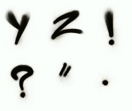 Spray Paint「Graffiti alphabet Y - Z with punctuation」:スマホ壁紙(11)