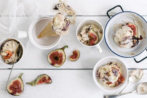 イチジク「Fig ice-cream scoops and cones」:スマホ壁紙(10)