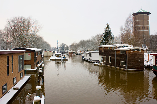 Canal House「Winter Postcard from Zwolle, Netherlands」:スマホ壁紙(12)