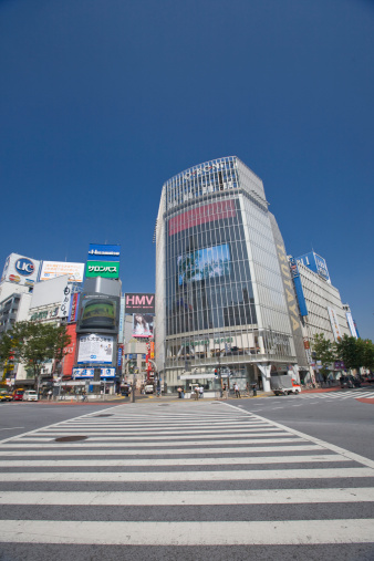 Shibuya Ward「Zebra Crossing at Shibuya Station」:スマホ壁紙(2)