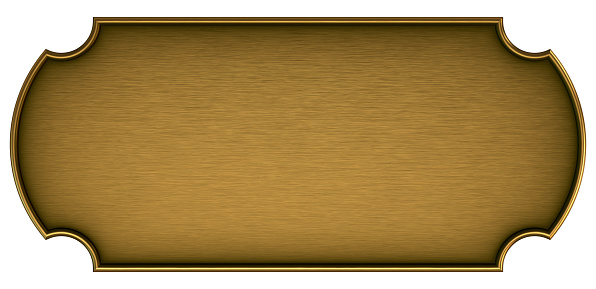 Plate「Blank brass plaque on a white background」:スマホ壁紙(7)