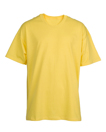 Yellow「Yellow, blank, t-shirt front-isolated on white」:スマホ壁紙(7)