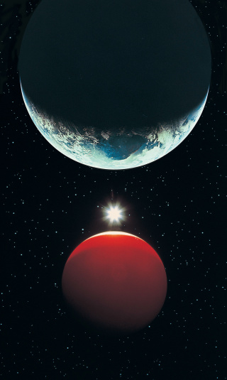 Solar System「Earth, Red Planet and Sun」:スマホ壁紙(12)