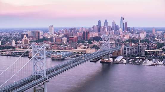 Pennsylvania「Benjamin Franklin Bridge with Center City, Philadelphia」:スマホ壁紙(4)