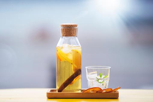 Ice Tea「Home made healthy ice tea with lemon and mint」:スマホ壁紙(17)