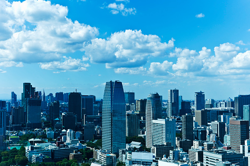 Blue「Tokyo Cityscape」:スマホ壁紙(19)