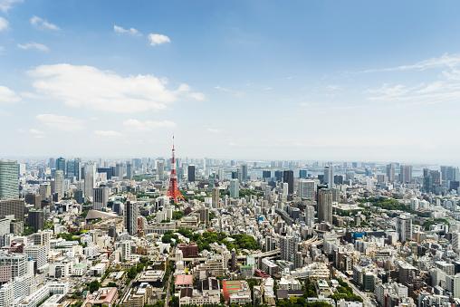 都市の全景「東京の景観、日本」:スマホ壁紙(2)