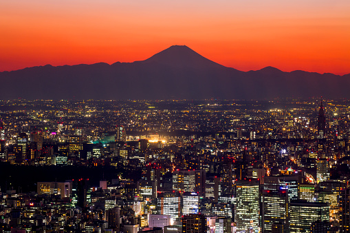 Mt Fuji「Tokyo cityscape and Mt Fuji」:スマホ壁紙(11)