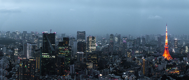 Tokyo Tower「Tokyo cityscape, tower and skyscrapers」:スマホ壁紙(19)