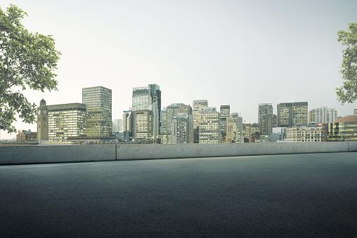 Parking Lot「Empty Roof top Parking Lot」:スマホ壁紙(0)