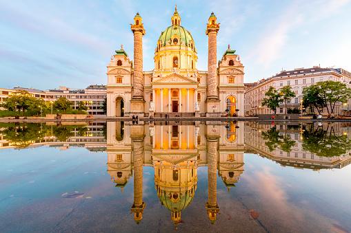 St「St Charles Church (Karlskirche), Vienna, Austria」:スマホ壁紙(5)