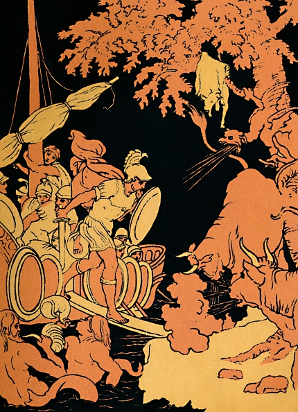 Black Background「The Fire-Breathing Bulls, 1880」:写真・画像(17)[壁紙.com]