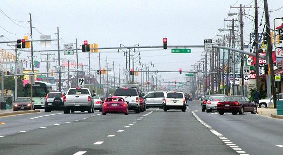 オーシャンシティー「Highway in Ocean City Maryland」:スマホ壁紙(1)