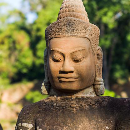 仏像「Buddha statue, South Gate, Angkor Thom」:スマホ壁紙(14)