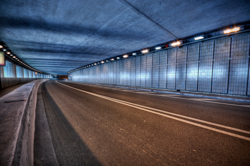 Tunnel「Blue toned illuminated Monaco Grand Prix Tunnel at night」:スマホ壁紙(14)