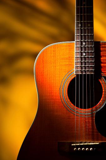 Guitar「Dreamy Old 6 string accoustic guitar」:スマホ壁紙(1)