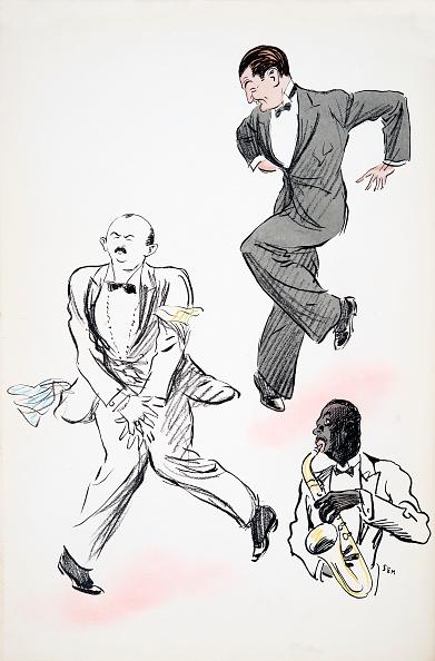 楽器「Two Gentleman In Black Tie Dancing To Jazz」:写真・画像(2)[壁紙.com]