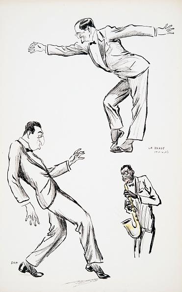 楽器「Two Gentlemen In Black Tie Perform La Danse Havas To The Saxophone」:写真・画像(1)[壁紙.com]