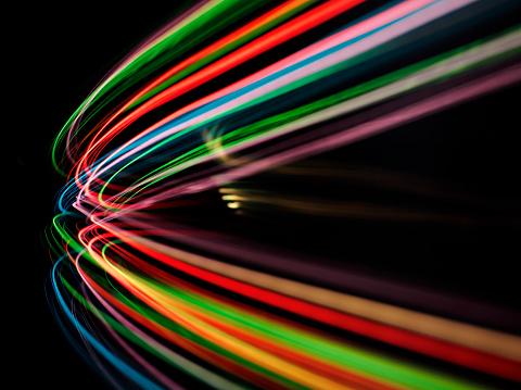 縞模様「カーブの色の照明」:スマホ壁紙(10)