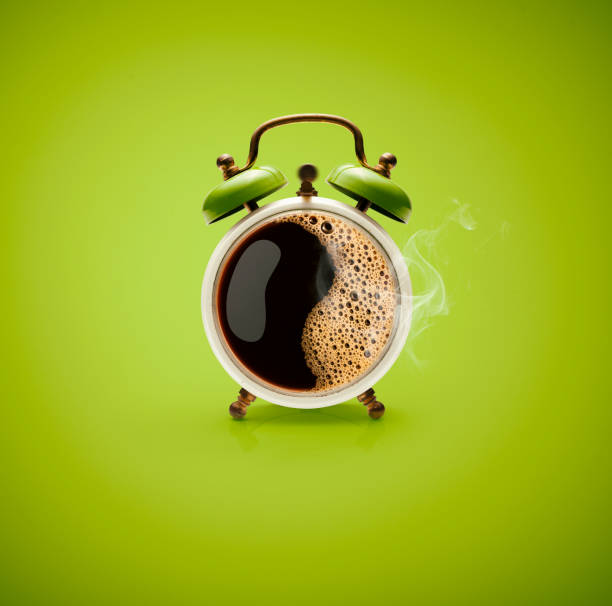 Hot Coffee Retro Alarm Clock:スマホ壁紙(壁紙.com)