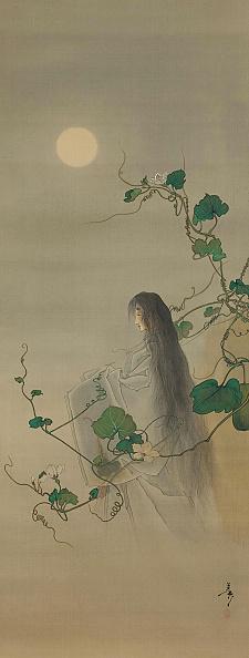 朝顔「The Spirit Of The Deceased Yugao Entwined In Moonflower Vines...」:写真・画像(2)[壁紙.com]