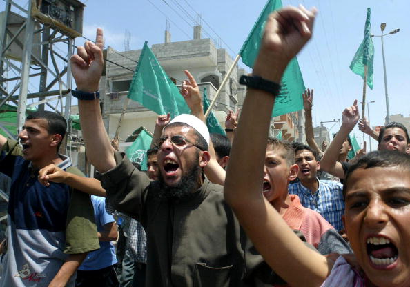 Front View「Hamas Supporters Demonstrate Against Mideast Peace Plan」:写真・画像(14)[壁紙.com]