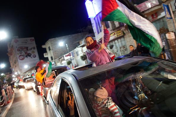 West Bank「Palestinians Celebrate U.N. Vote」:写真・画像(7)[壁紙.com]
