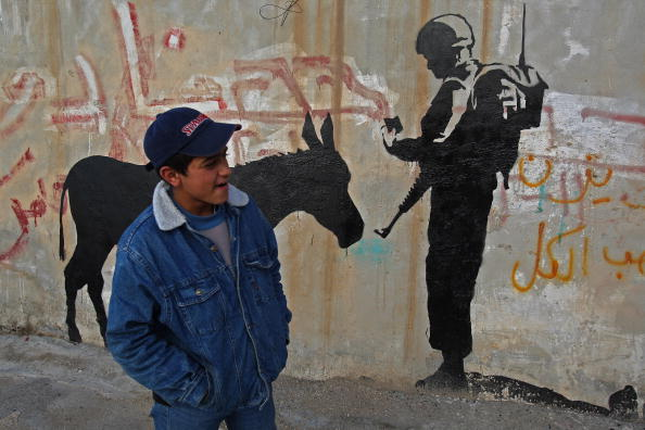 West Bank「Banksy Graffiti Art On West Bank Barrier」:写真・画像(14)[壁紙.com]