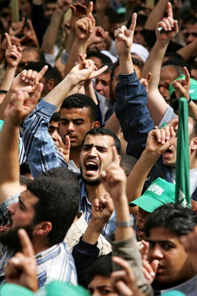 Middle Eastern Ethnicity「GZA: Thousands Attend Hamas Rally In Gaza」:写真・画像(9)[壁紙.com]