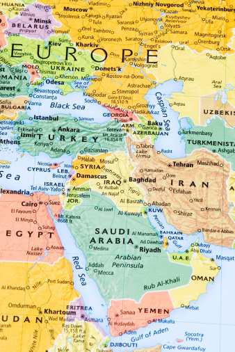 Iran「Eastern Europe, Middle East and Persian Gulf Region map」:スマホ壁紙(17)