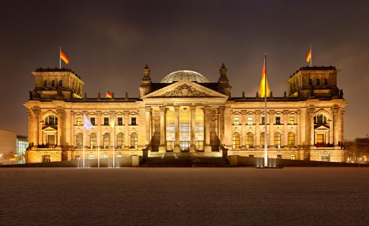 The Reichstag「German Reichstag In Berlin At Night」:スマホ壁紙(12)