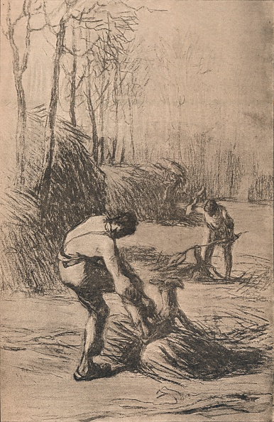 Jean Francois Millet「The Woodcutters', c.1853.」:写真・画像(3)[壁紙.com]