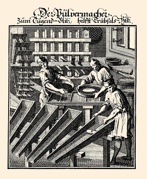 Explosive「Professions - Gunpowder Maker. Etching By Christoph Weigel. From: Abbildung Der Gemein-Nuetzlichen Haupt-Staende . Regensburg 1698.」:写真・画像(10)[壁紙.com]
