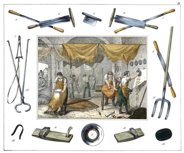 Animal Body Part「Professions: Tanner. From: 30 Werkstaetten Von Handwerkern. Schreiber: Eßlingen. Colored Lithograph. About 1860.」:写真・画像(11)[壁紙.com]