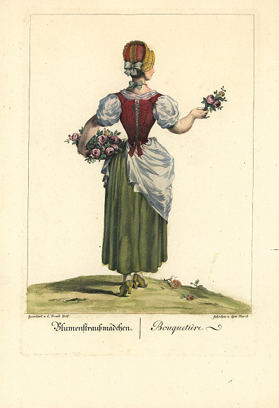 Flower Girl「Professions - Flower Girl. 1775/76. Coloured Copper Etching By Quirin Marck After A Drawing By Johann Christian Brand.」:写真・画像(13)[壁紙.com]