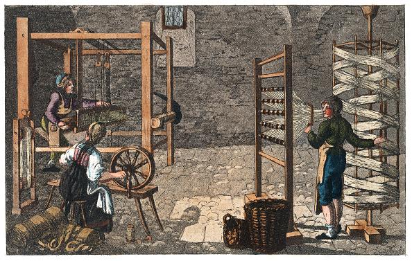 1820-1829「Professions: Linen Weaver. From: Gallerie Der Vorzüglichsten Künste. Zürich  Leipzig. Colored Lithograph. 1820.」:写真・画像(2)[壁紙.com]