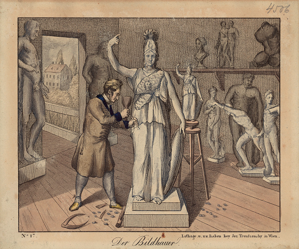 Sculptor「Professions - Sculptor. About 1825. Coloured Lithograph By Jos. Trentsensky. No. 22」:写真・画像(1)[壁紙.com]