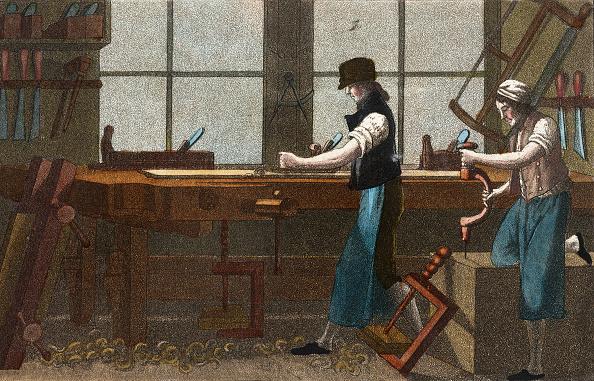 Carpentry「Professions: Carpenter. From: Gallerie Der Vorzüglichsten Künste. Zürich  Leipzig. Colored Lithograph. 1820.」:写真・画像(6)[壁紙.com]