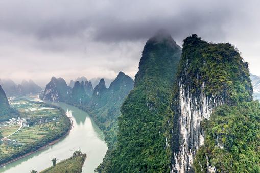 桂林山水「漓江の景観を GuanXi 中国」:スマホ壁紙(14)